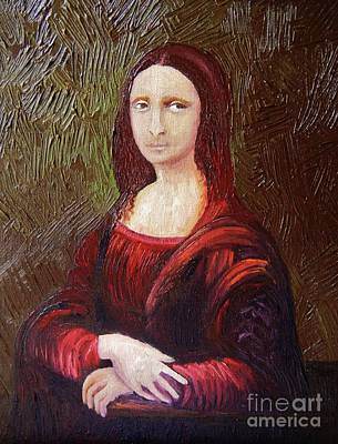 Painting - That Mona Look by Reb Frost