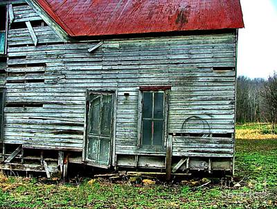 Julie Dant Artography Photograph - That Old House Down By The Creek by Julie Dant