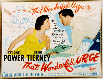 That Wonderful Urge, Gene Tierney Art Print by Everett