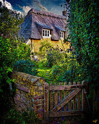 Thatched Roof Country Home Art Print by Chris Lord