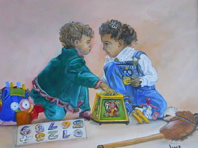 Painting - That's Mine by Joyce Reid