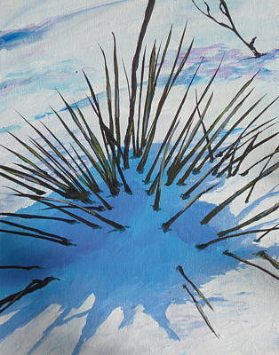 Poke Painting - Thaw by Sandy Tracey