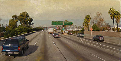 Briex Painting - The 101 Opposite California Highway 101 Near The La City College by Nop Briex