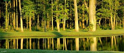 Indiana Landscapes Photograph - The 14th Green by Ed Smith