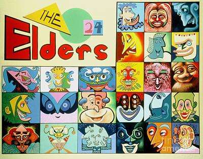 Apocalypse Painting - The 24 Elders by Peter Olsen