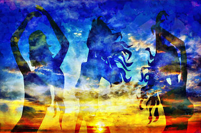 The 3 Muses 1 Art Print by Angelina Vick