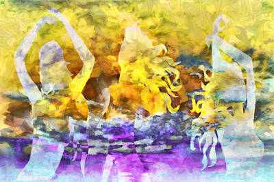 Wondering Mixed Media - The 3 Muses 2 by Angelina Vick