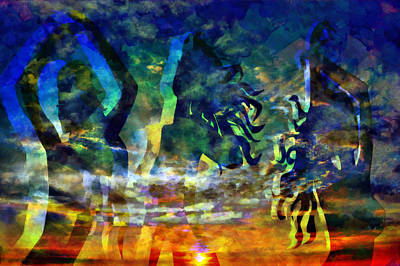 Nature Abstract Mixed Media - The 3 Muses 3 by Angelina Vick