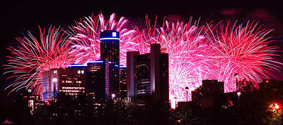 Photograph - The 54th Annual Target Fireworks In Detroit Michigan by Gordon Dean II