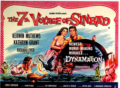 The 7th Voyage Of Sinbad, Aka The Art Print by Everett