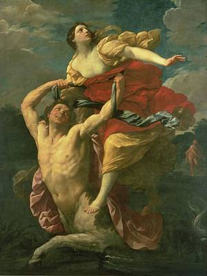 Abduction Painting - The Abduction Of Deianeira by  Centaur Nessus
