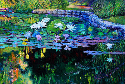 Reflection In Water Painting - The Abstraction Of Beauty Two by John Lautermilch
