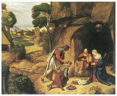 The Adoration Of The Shepherds Print by Giorgione