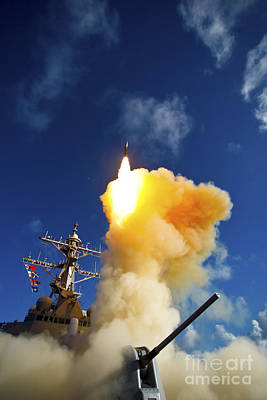 Photograph - The Aegis-class Destroyer Uss Hopper by Stocktrek Images