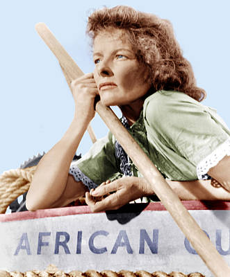Incol Photograph - The African Queen, Katharine Hepburn by Everett