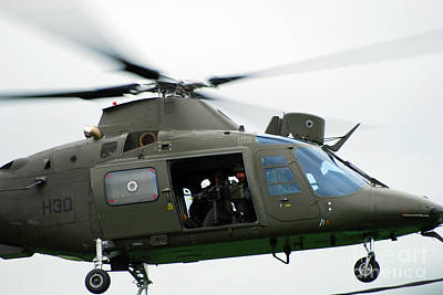 Agustawestland Aw109 Photograph - The Agusta A109, Used By The Belgian by Luc De Jaeger