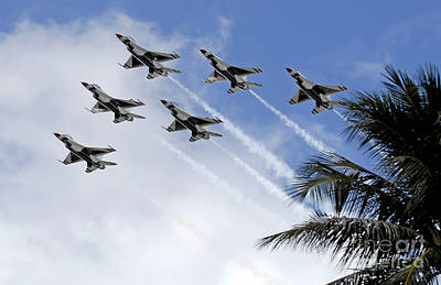 Photograph - The Air Force Thunderbirds by Stocktrek Images
