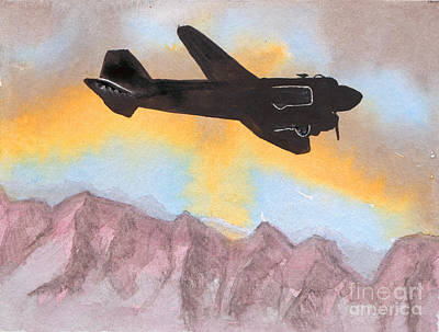 Dc-3 Painting - The Airliner by R Kyllo