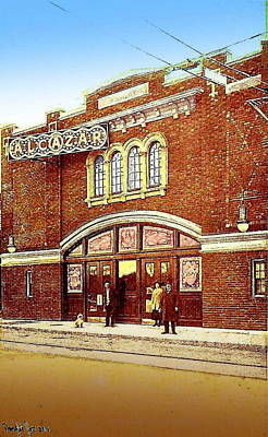 The Alcazar Theatre In Naugatuck Ct 1913 Art Print