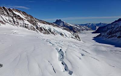 Jungfraujoch Photograph - The Aletsch Glacier by Swaranjeet Singh