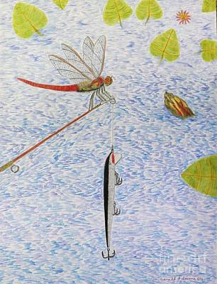 Lilies Drawings - The allure of the rod by Gerald Strine