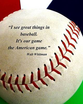 Mlb.com Photograph - The American Game by Christopher Kerby