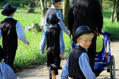 The Amish Boy Art Print by Dennis Pintoski