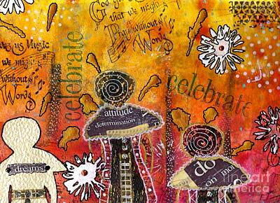 Mixed Media - The Angel Brigade - Cropped Version by Angela L Walker