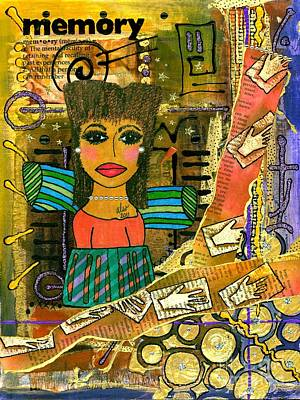 African-american Mixed Media - The Angel Of Fond Memories by Angela L Walker