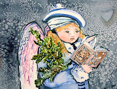 Painting - The Angel Sings by Mindy Newman