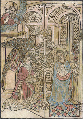 The Annunciation, Depicting Art Print by Everett