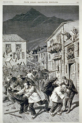 The Anti-chinese Riot In Denver Art Print by Everett