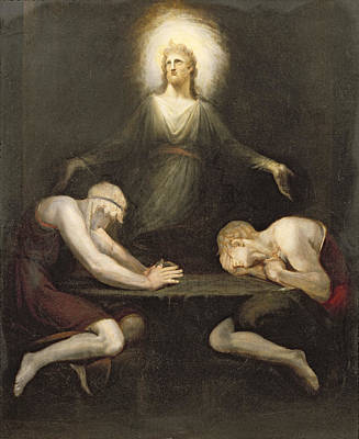 The Appearance Of Christ At Emmaus Art Print by Henry Fuseli