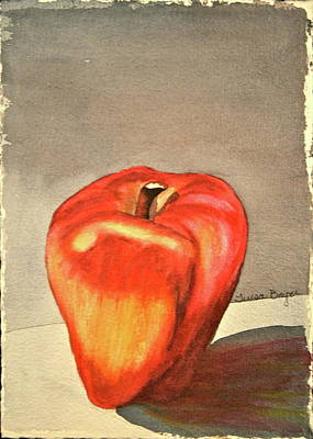 Art Print featuring the painting The Apple Of by Teresa Beyer