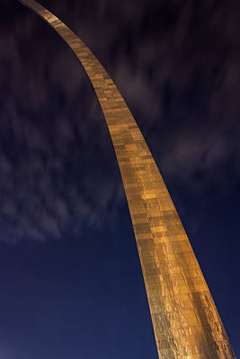 Photograph - The Arch In St Louis At Night by Semmick Photo