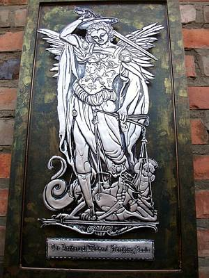 Metal Embossing Relief - The Archangel Michael Weighing Souls by Cacaio Tavares