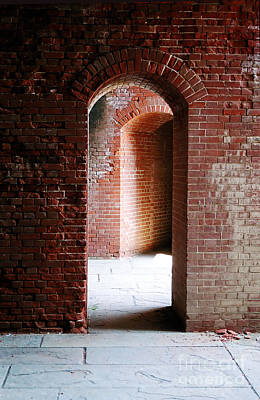 Photograph - The Arches Of Fort Delaware by Richard Ortolano