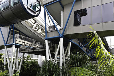The Area Below The Capsules Of The Singapore Flyer Print by Ashish Agarwal
