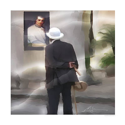 Portraits Digital Art - The Art Admirer by Bob Salo
