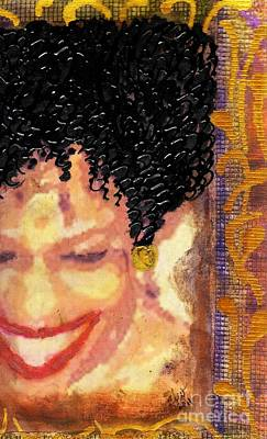 Photograph - The Artist Who Found Her Smile by Angela L Walker