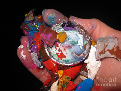 Photograph - The Artist's Hand by Judy Via-Wolff