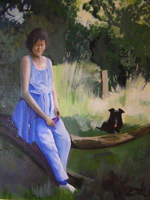 The Artist's Wife With Jasper Art Print