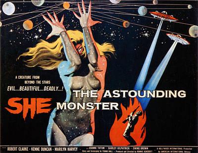 The Astounding She Monster, Shirley Art Print by Everett
