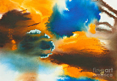 Ink Painting - The Atoll by Phil Albone