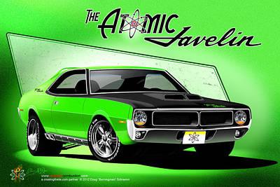 The Atomic Javelin Art Print
