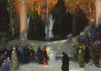 Clearing Painting - The Audience by TE Mostyn