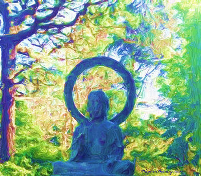 Canadian Culture Painting - The Aura Of Buddha by Wayne Bonney