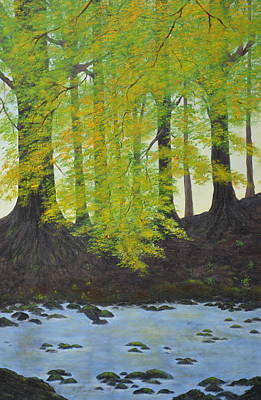 Painting - The Autumn Glen by Flo Markowitz