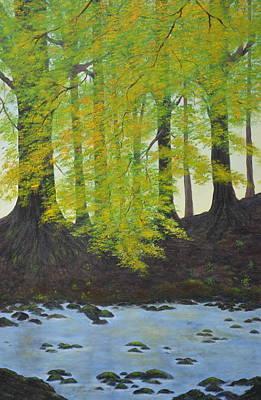 The Autumn Glen Art Print