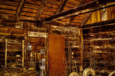 Photograph - The Back Room Of The Blacksmith Shop by David Patterson